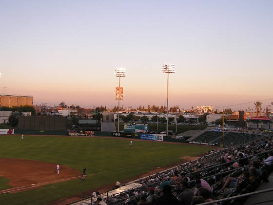 Dusk over Right Field in Fresno - Chukchansi Park