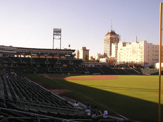 The view from Right Field - Chukchansi Park