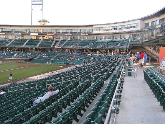 The spacious aisleways at Chukchansi Park - Fresno