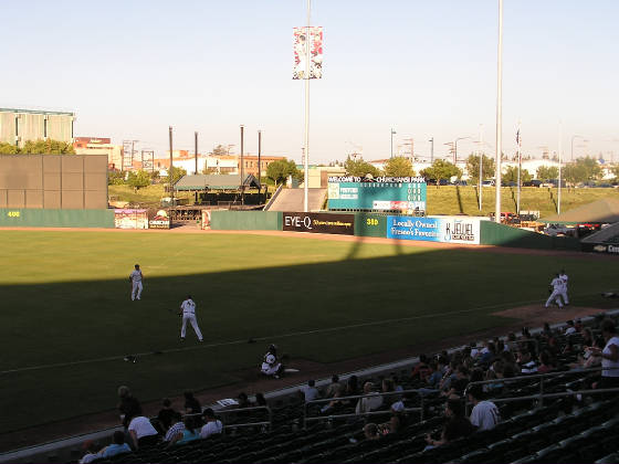 Getting ready for the game - Chukchansi Park