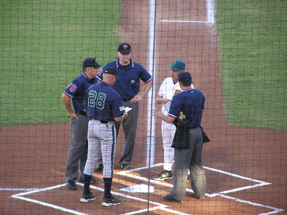 Exchanging the Line Ups - Chukchansi Park