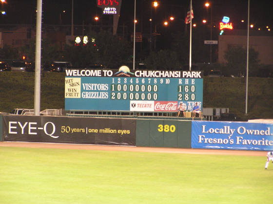 The Manual Scoreboard in Right - Fresno, Ca